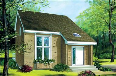 2-Bedroom, 1113 Sq Ft Ranch Home Plan - 157-1505 - Main Exterior