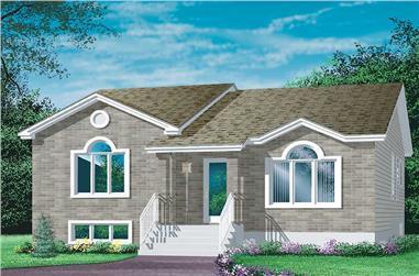3-Bedroom, 1182 Sq Ft Ranch Home Plan - 157-1507 - Main Exterior