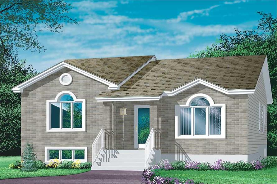3-Bedroom, 1182 Sq Ft Ranch Home Plan - 157-1507 - Main Exterior