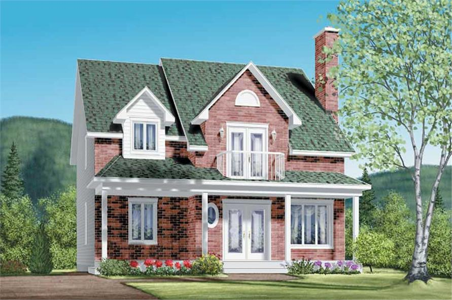 4-Bedroom, 1957 Sq Ft Colonial House Plan - 157-1508 - Front Exterior