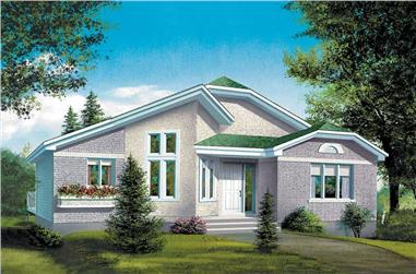 2-Bedroom, 1144 Sq Ft Craftsman House Plan - 157-1512 - Front Exterior
