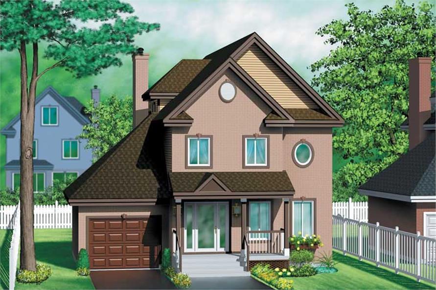 3-Bedroom, 2046 Sq Ft European Home Plan - 157-1513 - Main Exterior