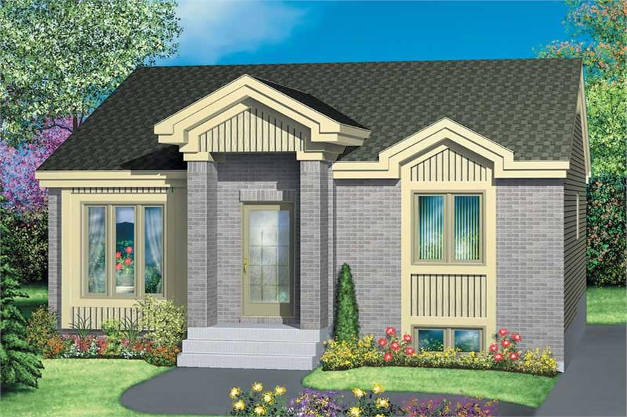 2-Bedroom, 814 Sq Ft Bungalow Home Plan - 157-1519 - Main Exterior