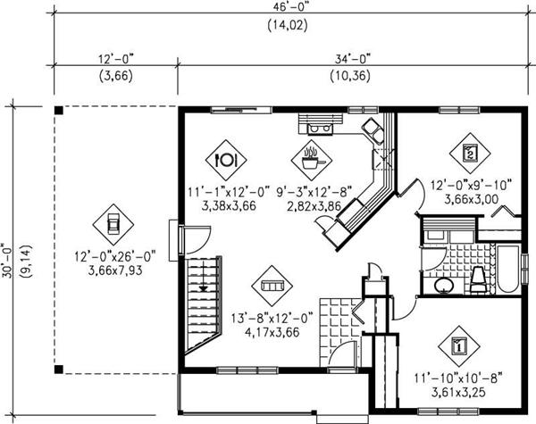MAIN FLOOR PLAN Cute Country House Plans