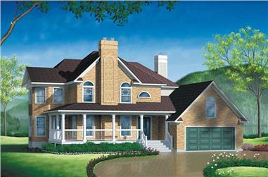 4-Bedroom, 2799 Sq Ft House Plan - 157-1522 - Front Exterior