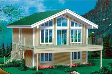 3-Bedroom, 1248 Sq Ft Country House Plan - 157-1523 - Front Exterior