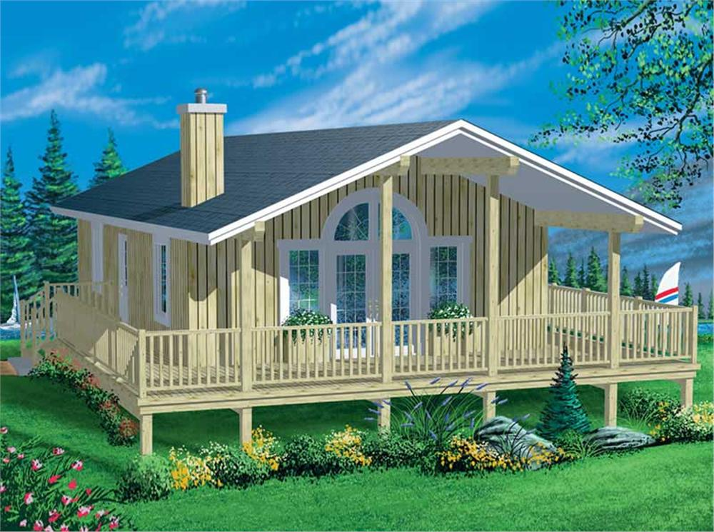 Front elevation of Coastal home (ThePlanCollection: House Plan #157-1524)