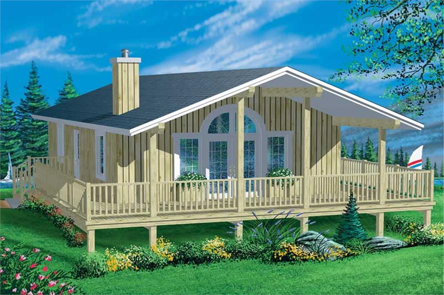 2-Bedroom, 888 Sq Ft Coastal Home Plan - 157-1524 - Main Exterior