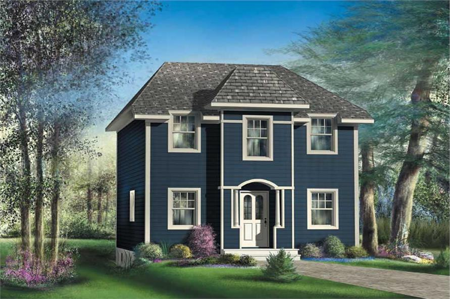 3-Bedroom, 1331 Sq Ft Small House Plans - 157-1528 - Front Exterior