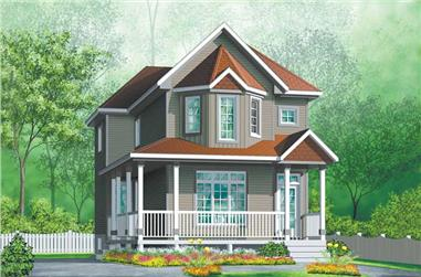 3-Bedroom, 1404 Sq Ft Country Home Plan - 157-1535 - Main Exterior