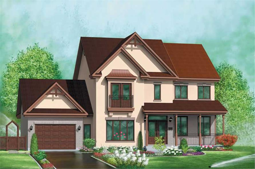 3-Bedroom, 2153 Sq Ft European Home Plan - 157-1536 - Main Exterior