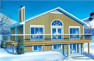 2-Bedroom, 1187 Sq Ft Country House Plan - 157-1537 - Front Exterior