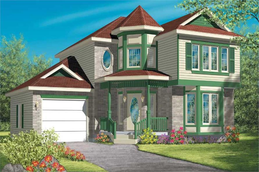 3-Bedroom, 1636 Sq Ft French House Plan - 157-1538 - Front Exterior