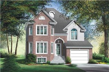 3-Bedroom, 1720 Sq Ft Ranch Home Plan - 157-1539 - Main Exterior