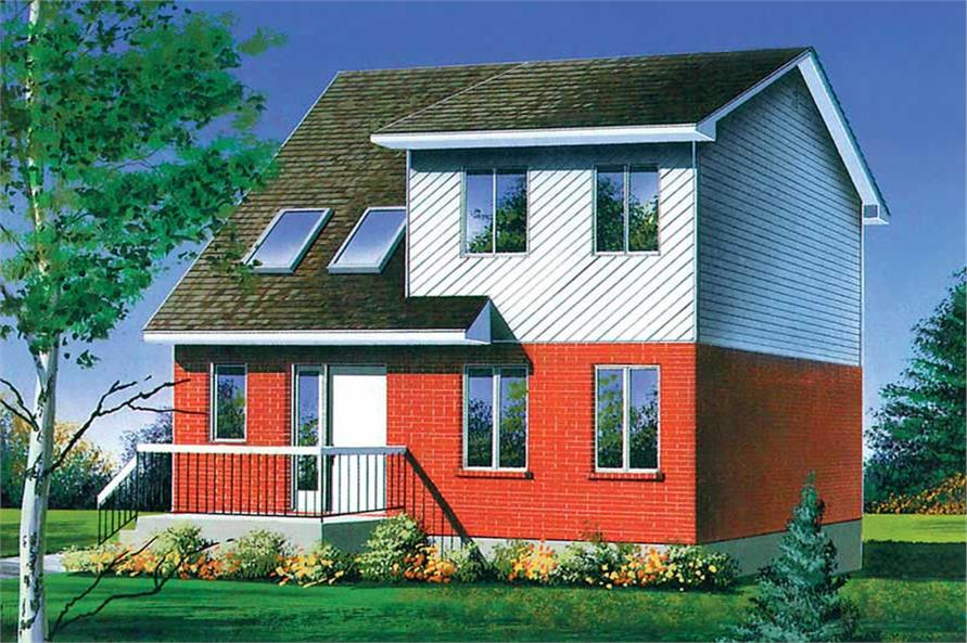 3-Bedroom, 1352 Sq Ft Contemporary House Plan - 157-1545 - Front Exterior