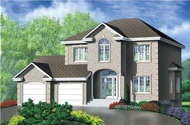3-Bedroom, 2365 Sq Ft European House Plan - 157-1546 - Front Exterior