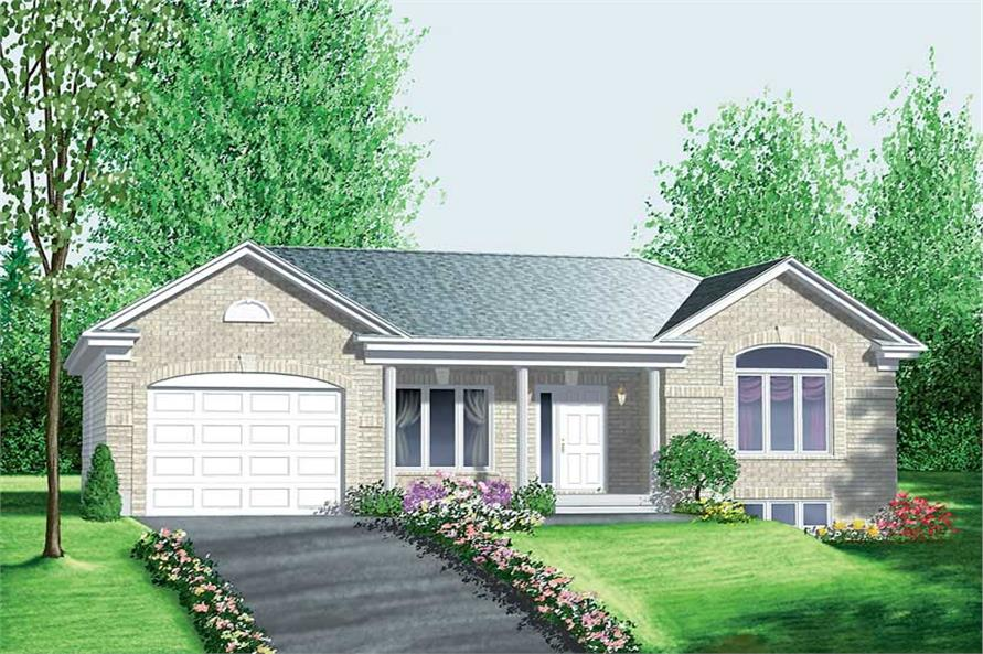 3-Bedroom, 1113 Sq Ft Ranch House Plan - 157-1547 - Front Exterior