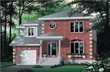 3-Bedroom, 2288 Sq Ft Colonial House Plan - 157-1549 - Front Exterior