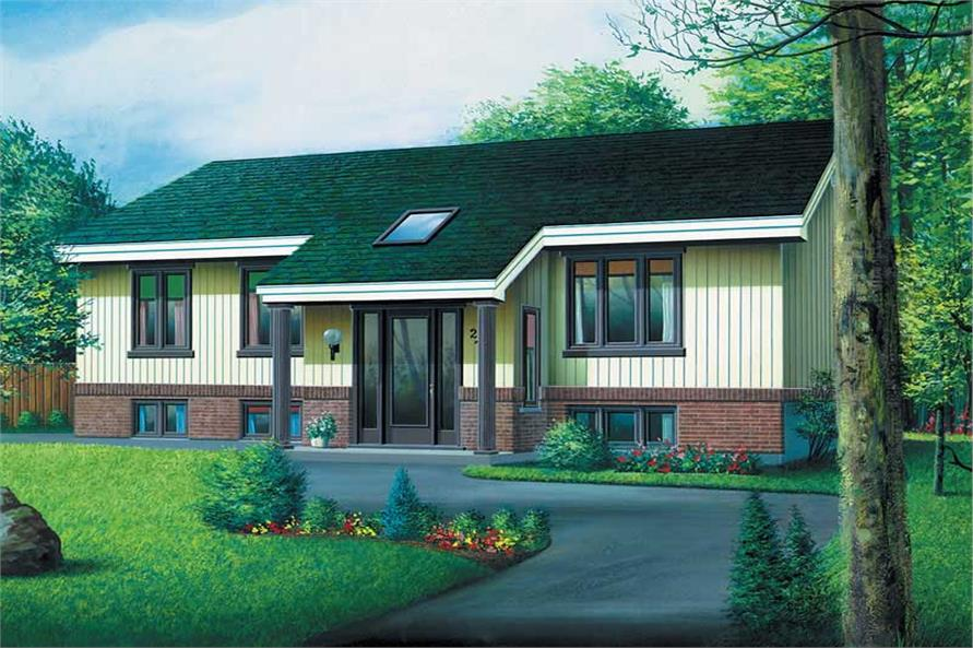 3-Bedroom, 1166 Sq Ft Ranch Home Plan - 157-1553 - Main Exterior
