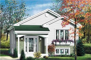 2-Bedroom, 861 Sq Ft Bungalow House Plan - 157-1555 - Front Exterior