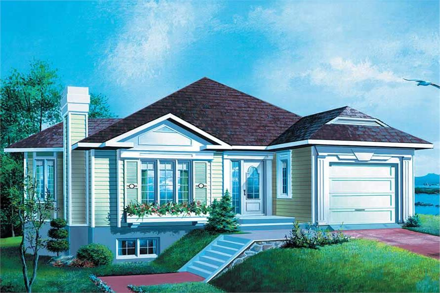 2-Bedroom, 1513 Sq Ft Ranch Home Plan - 157-1557 - Main Exterior