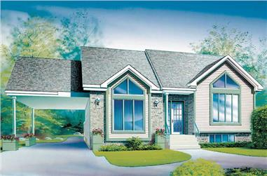 2-Bedroom, 1188 Sq Ft Ranch Home Plan - 157-1558 - Main Exterior