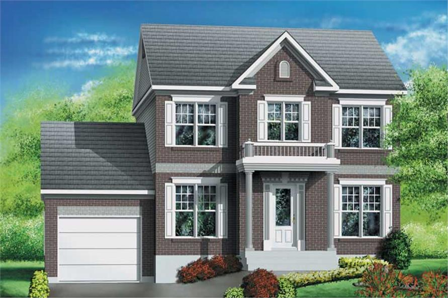 3-Bedroom, 1496 Sq Ft Multi-Level House Plan - 157-1559 - Front Exterior