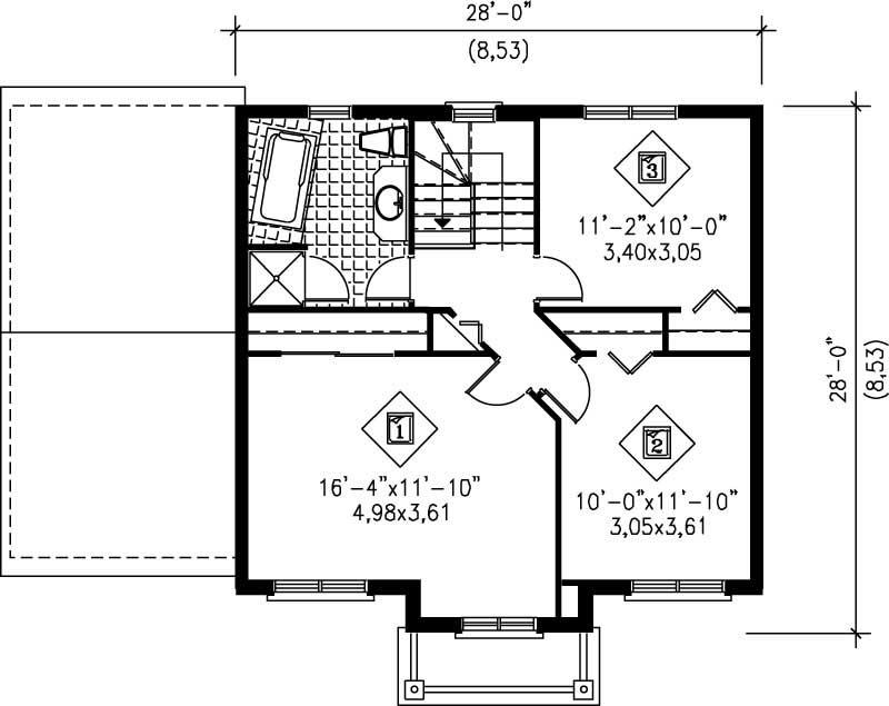 Small multi level house plans home design pi 20468 12923 for Multi level home floor plans