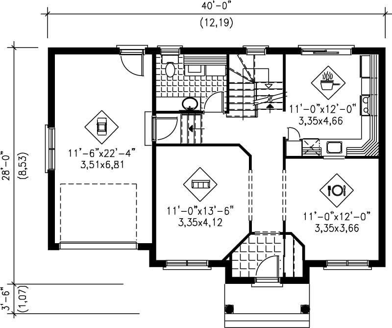 Small multi level house plans home design pi 20468 12923 for Multi level floor plans