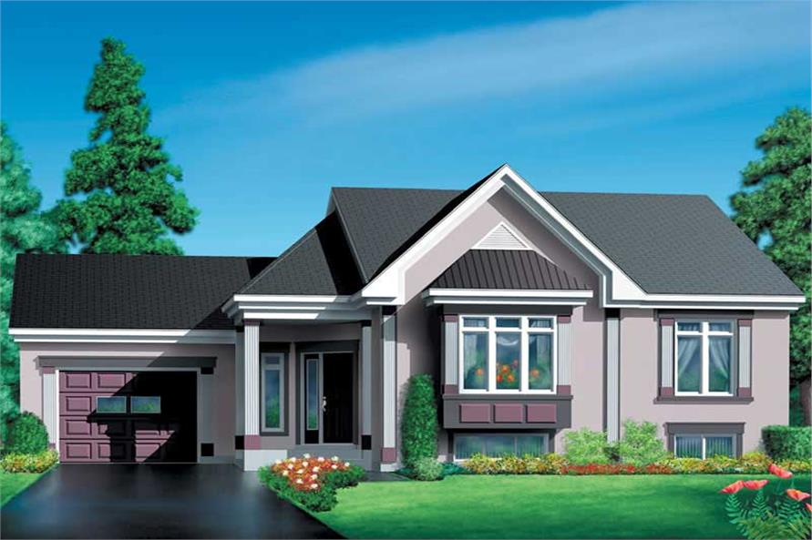 3-Bedroom, 1239 Sq Ft Small House Plans - 157-1562 - Main Exterior