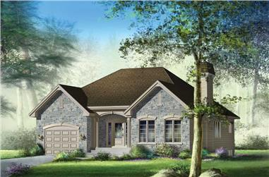 2-Bedroom, 1200 Sq Ft Craftsman Home Plan - 157-1563 - Main Exterior