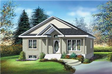 2-Bedroom, 952 Sq Ft Bungalow House Plan - 157-1564 - Front Exterior