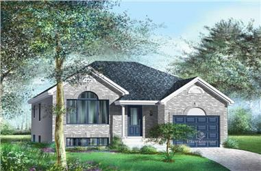 2-Bedroom, 1157 Sq Ft Bungalow House Plan - 157-1565 - Front Exterior