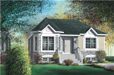 3-Bedroom, 1153 Sq Ft Bungalow House Plan - 157-1567 - Front Exterior