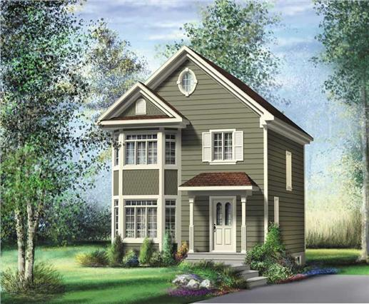 This image shows the Bungalow Style of this set of House Plans.