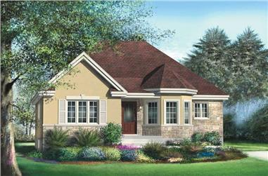 2-Bedroom, 1162 Sq Ft Ranch House Plan - 157-1569 - Front Exterior