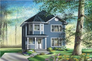 3-Bedroom, 1268 Sq Ft Small House Plans - 157-1570 - Main Exterior