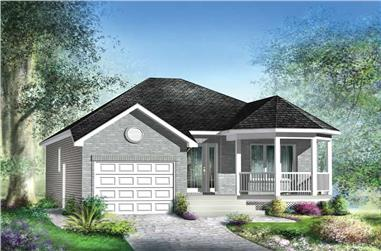 2-Bedroom, 988 Sq Ft Small House Plans - 157-1573 - Main Exterior