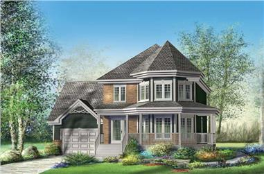 3-Bedroom, 1705 Sq Ft Small House Plans - 157-1574 - Front Exterior