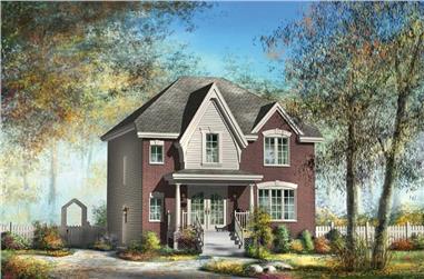 3-Bedroom, 1367 Sq Ft Ranch Home Plan - 157-1577 - Main Exterior