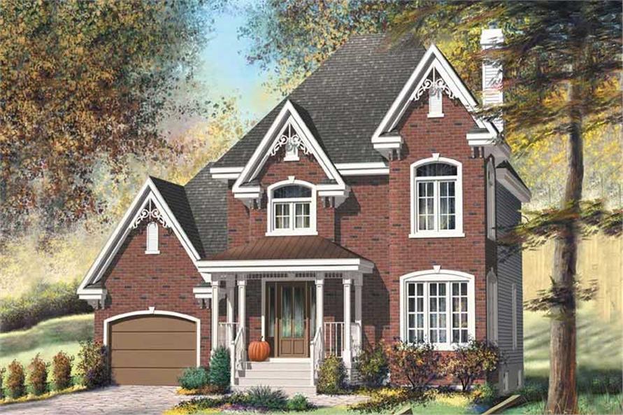 European style home plan (ThePlanCollection: House Plan #157-1581)