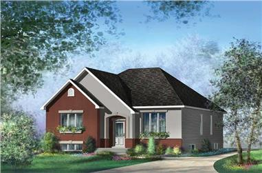 3-Bedroom, 1257 Sq Ft Bungalow House Plan - 157-1584 - Front Exterior