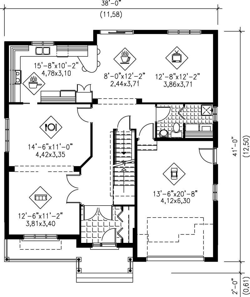 Multi level house plans home design pi 20190 12202 for Multi level home floor plans