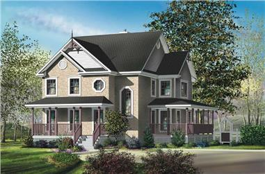 3-Bedroom, 2228 Sq Ft House Plan - 157-1586 - Front Exterior