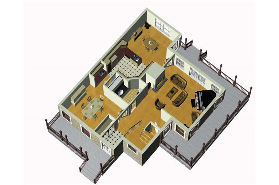 Home Plan Other Image of this 3-Bedroom,2228 Sq Ft Plan -157-1586