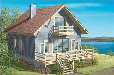 3-Bedroom, 1286 Sq Ft Craftsman Home Plan - 157-1587 - Main Exterior