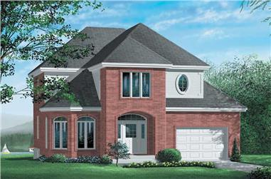3-Bedroom, 1721 Sq Ft European Home Plan - 157-1588 - Main Exterior