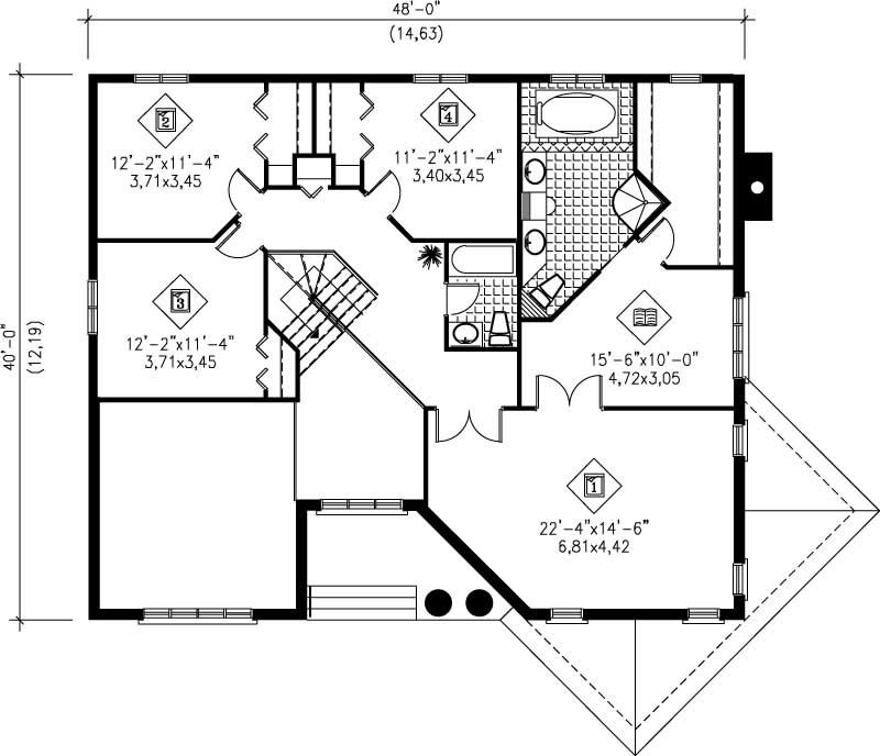 French Colonial House Plans Home Design Pi 04826 12494