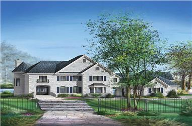 3-Bedroom, 3716 Sq Ft Multi-Level House Plan - 157-1591 - Front Exterior