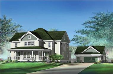 3-Bedroom, 3424 Sq Ft Multi-Level Home Plan - 157-1592 - Main Exterior
